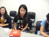 Professor Chan from MUST visited interns in New York