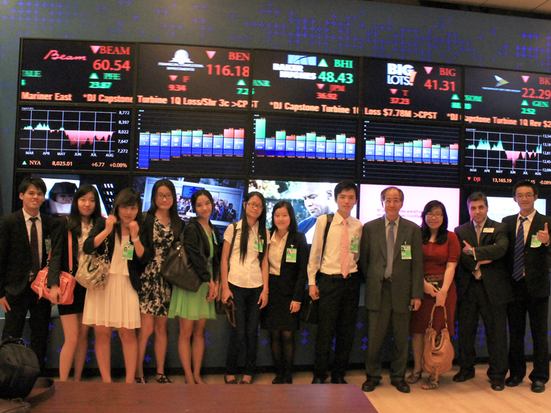 Visiting New York Stock Exchange...