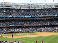 Watching the Baltimore Orioles at the Yankee Stadium
