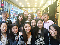 CCIP exchange visitors take a group trip to The Phantom of the Opera
