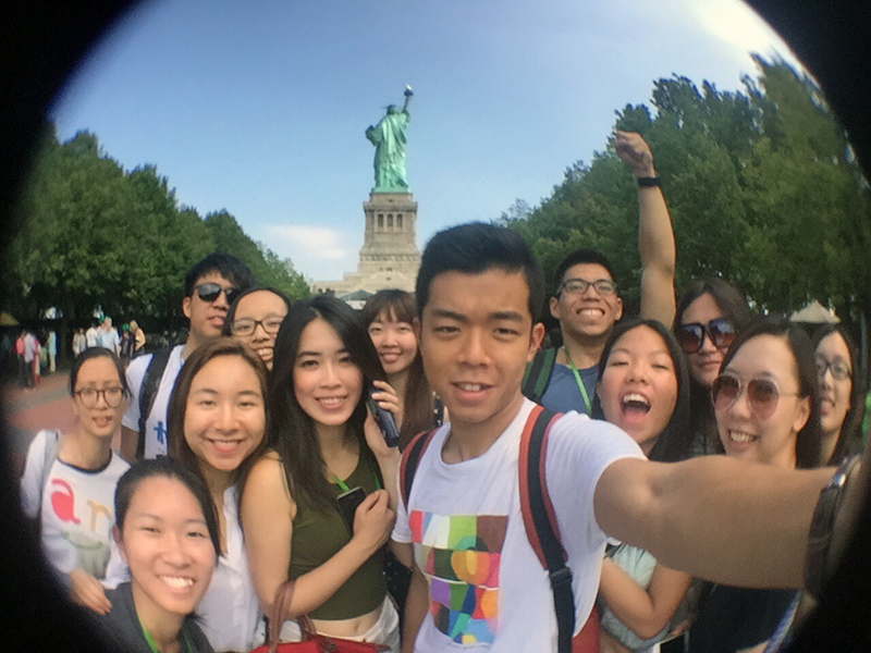 Historical and cultural enlightenment: CCIP participants visit the Statue of...