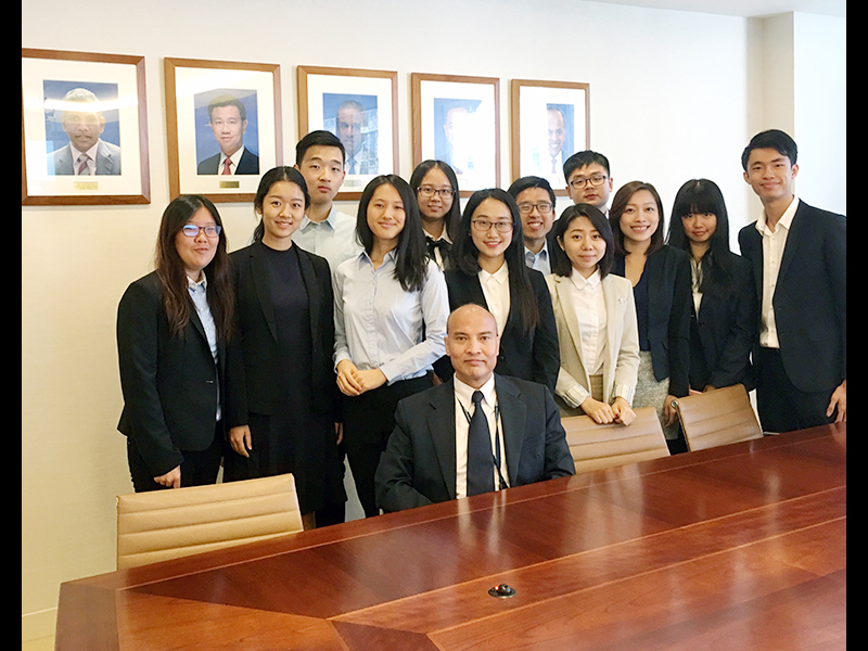 CCIP students learn about the Singapore Mission in New York...