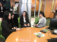 The exchange visitors learn about the American banking system at TD Bank