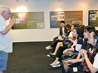 CCIP exchange visitors learn at the Kupferberg Holocaust Center