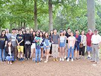 CCIP J-1 interns volunteer and BBQ at Cunningham Park